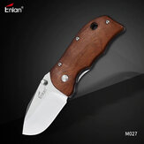 Enlan M027 Small Pocket Folding Knife with 8Cr13Mov Blade Wood Handle Liner-lock Stainless Steel Knife