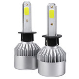 2Pcs Upgrated Super Bright S2 COB LED Car Headlights Bulbs H1 H3 H4 H7 H8 H9 H11 H13 880 881 9004 9005 9006 9007 9012 288W 28800LM 6500K White Waterproof