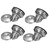 4pcs Brass Shock Absorber Speaker Spike + Pad Base Amplifier Isolation Cone Stand Feet