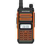 BAOFENG BF-S5plus 18W 9500mAh UV Dual Three Banda Portátil bidireccional Radio Walkie Talkie 128 canales Sea Land LED Linterna al aire libre Intercomunicador Interfono civil