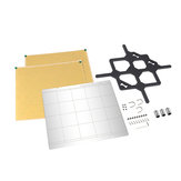 MK52 stalen plaatplatform + 2 stuks 253.8 * 241 PEI-plaat + Y-lijnondersteuningsplaatkit voor Prusa i3 MK3 3D-printer