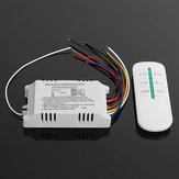 Interruptor digital de 4 vias sem fio Controle Remoto sono AC180-240V