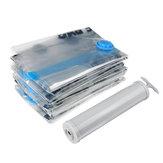 6 STÜCK Vakuumbeutel Seal Compressed Travel Aufbewahrungstasche Home Organizer Faltbare Kleidersack Mit Hand Pumpe