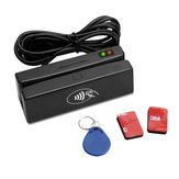 ZCS100 RFID Leitor Gravador Cartão de tarja magnética 3 Trilhas Leitor de cartão 13.56 MHz MX53