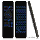 T007C T007MC 2.4G Wireless Colorful Backlit Mini Keyboard Voice IR Learning Remote Control Airmouse