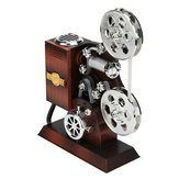 Retro Movie Film Projector Music Box Wood Metal Antique Musical Box Christmas Gift for Kids
