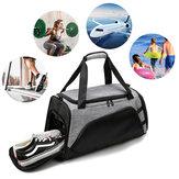 22in Grande Capacité Sport Gym Sac w / Chaussures Compartiment Voyage Sac à main Sac à bandoulière Fitness Yoga Sac