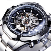 Forsining S101 Moda Masculina Assista 3ATM Waterproof Display Luminoso Mecânico