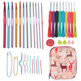 Home Use Sewing Tools Set Crochet Crochet Aiguilles Points De Couture À Tricoter Craft Case Crochet Set Case
