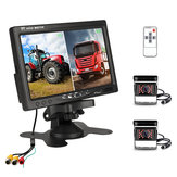 7 inch Monitor Display Truck Wireless Dual Waterproof Camera 2.4G Night Vision Reversing