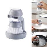 IPRee® Ajout de liquide de vaisselle automatique Brosse casserole Outil de nettoyage pour barbecue Pique-nique camping