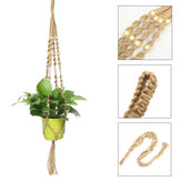 85cm Hemp Jute Rope Plant Hanger Flower Pot Holder Macrame Hanging Basket With Bead