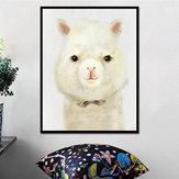 Miico Pintados à Mão Óleo Pinturas Desenhos Animados Alpaca Pinturas Arte Da Parede Para A Decoração Home