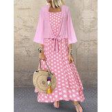Bohemian Polka Dot Two Pieces Dress