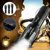 Tactical 900LM T6 LED Flashlight Zoomable 5 Modes 18650 Focus Torch+AAA