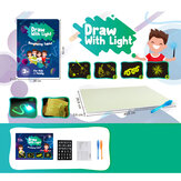 A3 Size 3D Children's Luminous Drawing Board Toy Draw with Light Fun for Kids Family