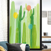 Miico FX82031 2PCS Cactus And Balloon Painting Sticker Glass Door Stickers Wall Stickers Home Decoration Sticker