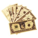1 set USD Dollar Gold Foil Golden Paper Money Currency Coin Collection Commemorative Banknote Craft