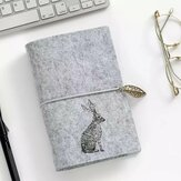 A6 Felt Shell Fabric Notebook Loose Leaf Inner Core Notebook Diary Plan Binder Office School Supplies Ring Binder