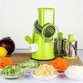 قطاعة خضروات كتيب أدوات مطبخ مطحنة لولبية مع 3 شفرات غير القابل للصدأ