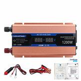 2 LED Dispaly 1200 W Tepe Akıllı Güç Dönüştürücü Araba Inverter Güç Kaynağı Invertör Için Araba / Househould