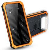 Banco duplo do poder de USB Bateria do carregador solar portátil impermeável 8000mAh