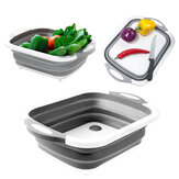Portable Folding Dishwashing Drain Basin Fruits Vegetable Cleaning Washbasin Camping Picnic