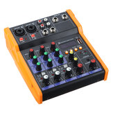 4 canali Bluetooth DJ Mic Audio Mixer Console di missaggio audio Live Studio