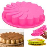 9 '' Silicone Torta al fiore Stampo per pane al cioccolato Stampo per teglie Strumento per teglie per tortiera