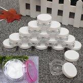50Pcs Cosmetic Bolsa Jar vazio Vasos Sombra Maquiagem Creme para o rosto Lip Balm Container 3 ml