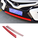 Red Carbon Fiber Style Front Bumper Modelling Protective Cover Trim For Toyota Camry 2018 110 X 15 X 10cm