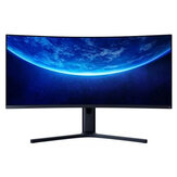 Originele XIAOMI Gebogen gaming-monitor 34-inch 21: 9 Breng visscherm 144Hz Hoge vernieuwingsfrequentie 1500R kromming WQHD 3440 * 1440 Resolutie 121% sRGB Breed kleurengamma Free-Sync Technology Display
