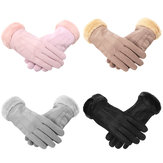 Women Gloves Velvet Keep Warm Touch Screen Windproof