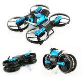 HeHengDa Oyuncaklar H6 2.4G 2 1 Elektrik RC Deformasyon Motosiklet Drone WIFI Kontrol Araba RTR Modeli