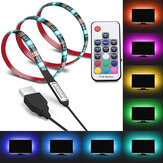 1M 2M 3M LED Strip Light Waterproof USB bluetooth TV Backlight 5050 RGB Color Lamp + 17Keys Remote Control