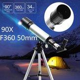 IPRee® 90X F36050M Telescopio monoculare da 50 mm Rifrattore astronomico Telescopio Oculari rifrattori Treppiede Principianti 2.800 Arc Secondi