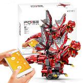 MoFun 2.4G DIY Programowalny dinozaur Program do budowania bloków Sterowanie aplikacją Wbudowany głośnik Smart RC Robot Toy