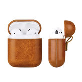 Mini Portable Protective PU Leather Cover Storage Case with Hook for Airpods1/2 Earphone