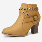 Chunky Heel Short Stiefel