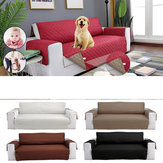 Waterproof Sofa Cushion Seat Protective Pad Cover with Removable Strap For Prevent Pet Damage
