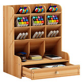 Pencil Pen Holder Storage Box Rack Desk Stationery Density Plate Desktop Organizer