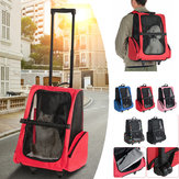 2 en 1 Pet Carrier Backpack Dog Cat Puppy Cart Sac de voyage en plein air respirant