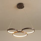 3 Ring PVC LED Pendant Lamp Ceiling Light Home Bedroom Dimming Fixture Decor
