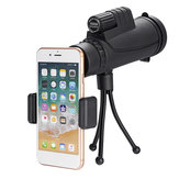 IPRee® 40x60 10 Times FMC Coating BAK4 Monocular Ultra HD Waterproof Low Light Night Vision Phone Telescope + Phone Clip + Tripod