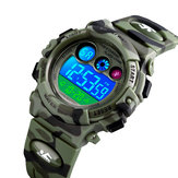SKMEI 1547 Energetic Dial Design LED Light 5ATM Kids Watch