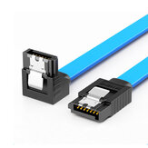 SAMZHE 3UX-05B 6Gbps SATA3.0 Male to Male Straight to Curved / Straight SATA Data Cable