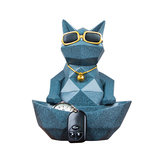 Moden Lucky Cat Figurines Statue Storage Boxes Craft Ornament Holder Home Decorations