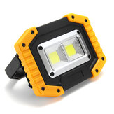 XANES® 30W 3000LM 2 COB USB Rechargeable Waterproof Powerful Work Light Floodlight Mobile Power Bank