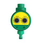 庭の灌漑タイマー2ダイヤル電子水コントローラホーム植物花自動タイミングツール防水