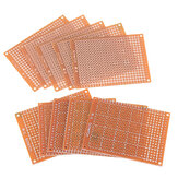10 pcs Universal Papan PCB 5x7 cm 2.54mm Lubang Pitch DIY Prototipe Kertas Dicetak Papan Sirkuit Panel Papan Sisi Tunggal